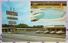 Vintage Socorro New Mexico Vagabond Motel Restaurant Postcard Route 66 Mustang