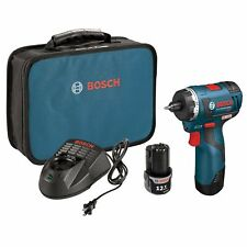 Bosch PS22-02 12-Volt 1/4-Inch 2.0Ah Max 2-Speed Brushless Pocket Driver Kit