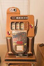 Mills Golden Falls Quarter Slot Machine--in Excellent Condition
