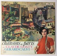 RARE Chansons de Paris Claude Goaty Gerard Calvi LP Record Vinyl World French