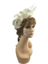 Women's Fashion Fascinators Spring Races Melbourne Cup Sinamay Bow & Feathers