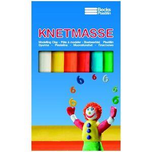 Schulknete 6 Stangen 5 Farben Knetmasse Packung Knete Schule Becks Plastilin Neu