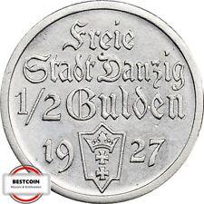 D 6  DANZIG  1/2 Gulden von 1927 in VZ+  969249
