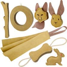 Dog Chew Toys Aggressive Chewer Dog Squeaky Toys Puppy Bite Jute Tug Bone Ring