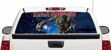 Iron Maiden Eddie Monster rear window perforated graphic Decal Truck SUV