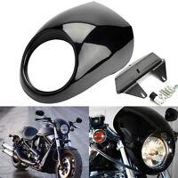 """5 3/4""""Phare Carénage Avant Headlight Cowl Visor Pour Harley Sportster Dyna FX XL"""