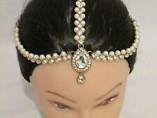 Head Matha Patti Hijab Jewellery Chain Gold Indian Tikka Headpiece Hair Piece