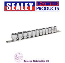 """SEALEY SOCKET SET 12PC 3/8""""SQ DRIVE LOCK-ON™ 6PT METRIC - AK2741"""
