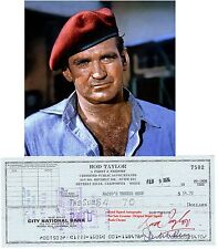 ROD TAYLOR    FILM STAR ACTOR   HAND SIGNED CHEQUE / CHECK    1976   RARE ITEM