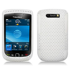White With White Hybrid Hard Case Cover for Blackberry Torch 9800 9810