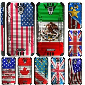 SILVER GUARD For Alcatel idealXCITE / CameoX Phone Case Brushed Hybrid Cover E5