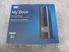 WD My Book Premium Storage 3TB USB 3.0 External Hard Drive WDBFJK0030HBK-NESN
