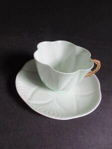 Shelley GREEN REGENCY cup & saucer