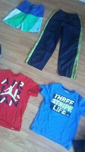 Boys Lot sz M Adidas t-shirt Air Jordan Nautica swim shorts Starter track pants