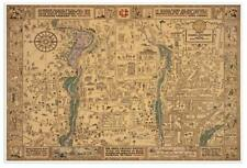 """United States MAP of LOUISIANA New Orleans circa 1876 Vintage Repro USA 24/""""x30/"""""""