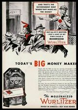1945 Wurlitzer jukebox photo vintage trade print ad 2