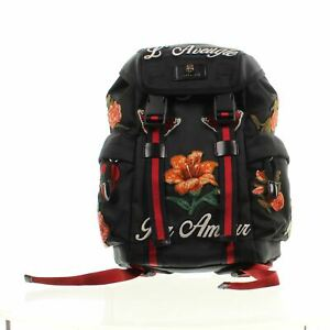 "GUCCI L'Aveugle Par Amou Techno Black Backpack, 13.5"" X 5"" X 10"""