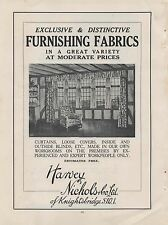 1935 Advert for 'HARVEY NICHOLS' with 'B. Winstone Printing Inks' on the reverse