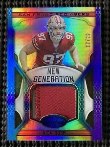 2019 Certified Nick Bosa New Generation Patch Jersey Relic RC SP /99 49ers $$$