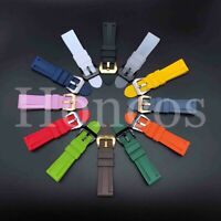 22 - 26 MM Soft Rubber Black Sport Diver Watch Band Strap Fits For Luminox IRB