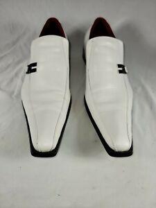 Zota Classic Mens Sz 12 Whit Leather Slip-On Long Square Toe Dress Shoe Pristine