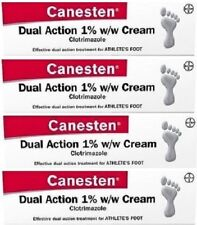 Canesten Dual Action 1% w/w Cream (4 x 15g) Treatment For Athlete's Foot