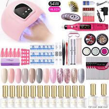 Arte de uñas Kit completo LED Lámpara Secador de Esmalte Gel UV juego de herramientas de Uñas Pegatinas Diamantes de Imitación