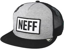 2018 NWT NEFF ATOMIC DAD TRUCKER HAT $30 heather grey /black casual snapback cap
