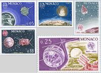 EBS MONACO 1965 - I.T.U. - SPACE - Satellites - U.I.T. - YT 664-668 MNH**