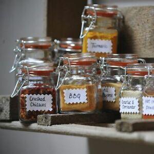 Set of 12 - Kilner 70ml Clip Top Airtight Spice Herb Glass Storage Jar