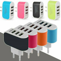 US/EU Plug 3.1A Multi 3 Ports USB Charger Adapter Travel Wall AC Power Supply H7