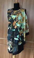 """TED BAKER """"Breeda"""" Cape Dress - 4 (UK14/US10) & Matching Clutch/Shoulder Bag"""