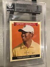 2008 Upper Deck Goudey Tiger Woods Green Back Mini #330 BGS 9 37/88