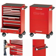 """Clarke CBB211DF 26"""" 11 Drawer Mobile Cabinet With Front Cover - Red 7639005"""