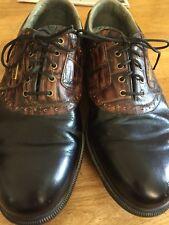 Footjoy Dryjoys Golf Saddle Shoes Men's 10.5 Black Brown