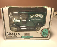 "Ertl 1912 Ford Open Cab Panel ""Agway"" Delivery Truck Bank Die-Cast Metal"