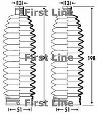 FSG3361 FIRST LINE STEERING GAITER KIT fits Renault Laguna II