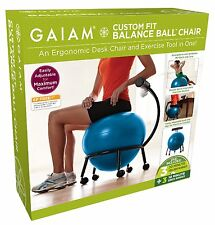 Gaiam Custom Fit Balance Ball Chair Body Balance Gym Exercise Fitness Workout