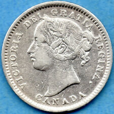 Canada 1900 10 Cents Ten Cent Silver Coin - Fine