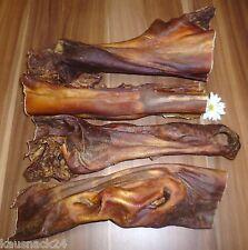 1 Kg MAULFLEISCH 25 cm langer Kauspaß wie Ochsenziemer Rinderkopfhaut BARF hart