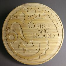 Game of Thrones Fire and blood Targaryen Cutting Choping Board Fire and blood