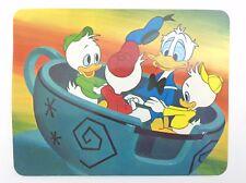 Walt Disney World Donald Duck Huey Dewey Louie Teacup Unposted Post Card H744