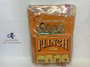 "(IU) Vintage 1988 Parker Brothers ""Flinch"" Card Game with Factory Sealed Cards"