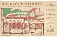 CA-208 France, Montmartre, Le Vieux Chalet Restaurant, Chrome Era Postcard