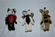 Boyds Tf Wuzzie Ornaments (3) - Tweedle, Twiddle and Buzzie, Mint