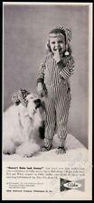 1959 Old English Sheepdog photo and little girl Gibbs Pajamas vintage print ad