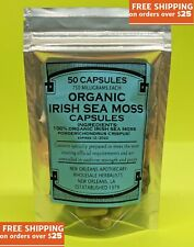 ORGANIC IRISH SEA MOSS*SEBI*RAW**50-Capsules**750mg each**(Chondrus crispus)