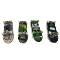 Tech Deck Lot of 4 Green Black Theme Mini Skateboards Alien Adam Alfaro Black