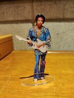 Jimi Hendrix with fender standing figure cristal clear acrylic He looks so real!