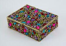 Olivia Riegel Dominique Swarovski crystals multi gems Jewelry Treasure Box